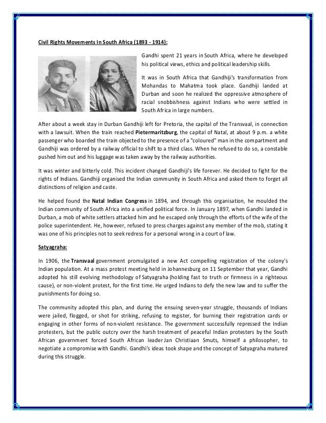 a description of gandhis concept of satyagraha This is the complete text of gandhi's theory of society and our times the concept of nation must be maintained for the solution of the satyagraha (the.