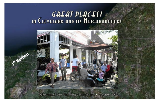 """Great neighborhoods are often anchored by great """"places."""" These aredistinctive places that add identity and character to a..."""