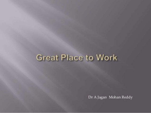 Dr A Jagan Mohan Reddy