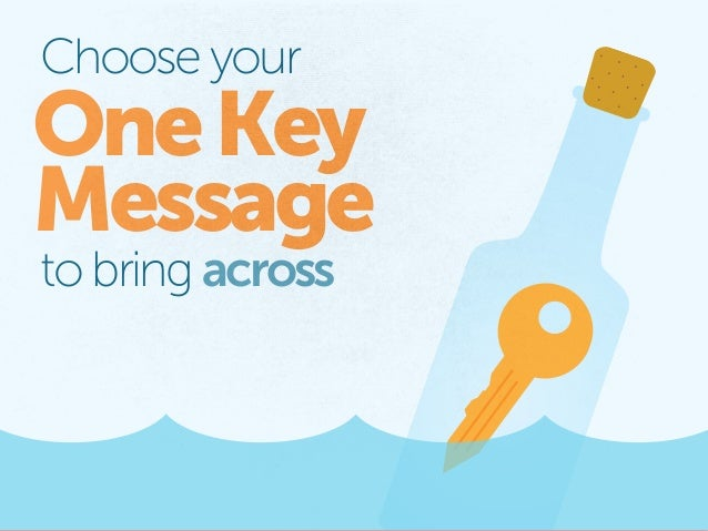 Choose your OneKey Message to bring across