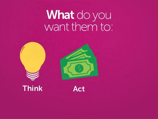 Think Act What do you want them to: