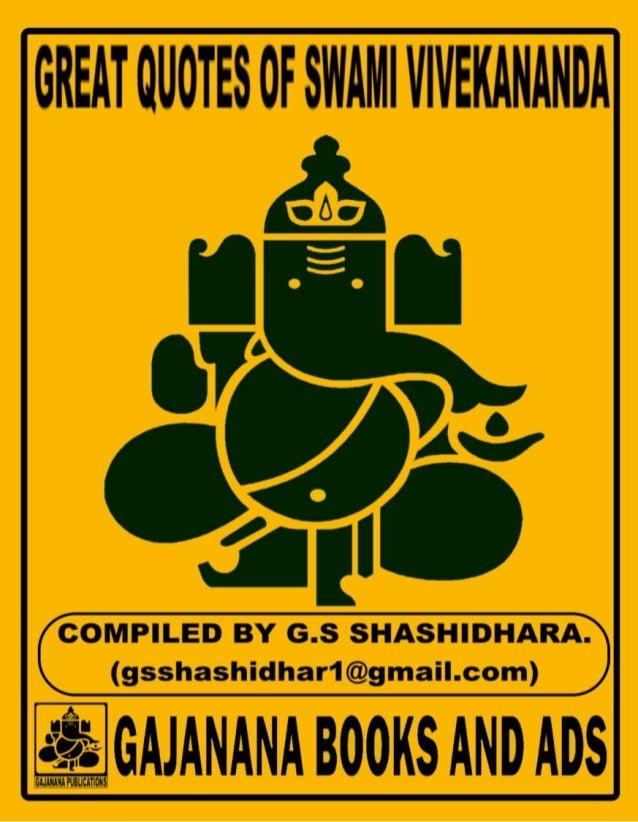 Great Quotes Of Swami Vivekananda