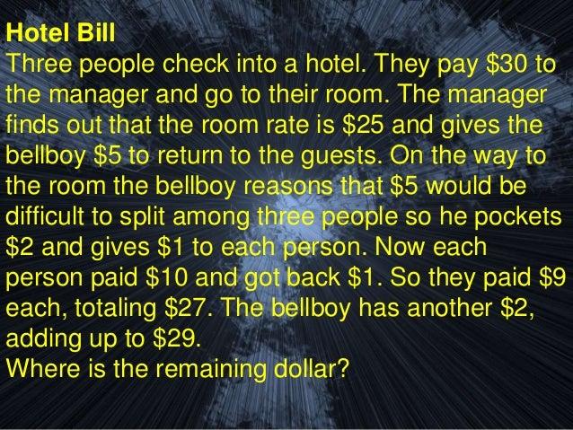 30 dollar hotel room riddle