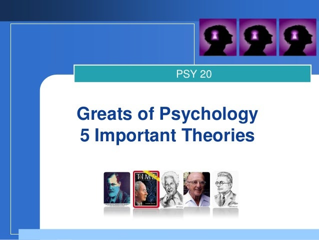 PSY 20Greats of Psychology5 Important Theories        Company        LOGO