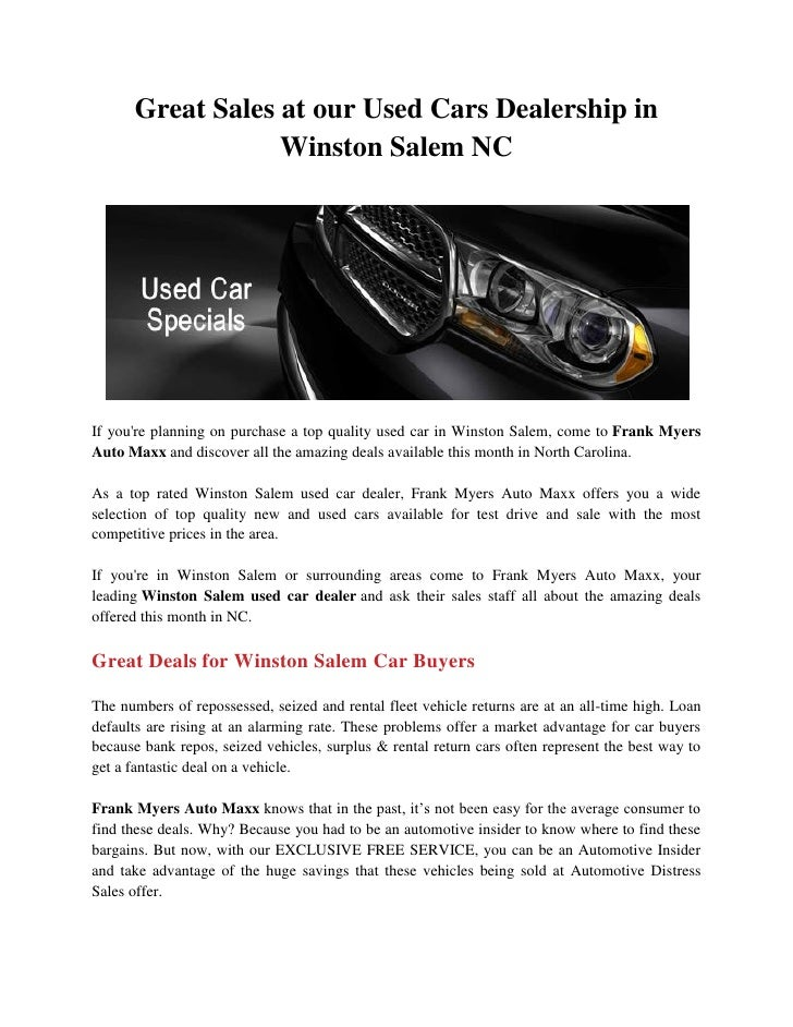 Great Sales At Our Used Cars Dealership In Winston Salem Nc