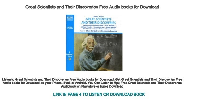 Great Scientists and Their Discoveries Free Audio books for Download