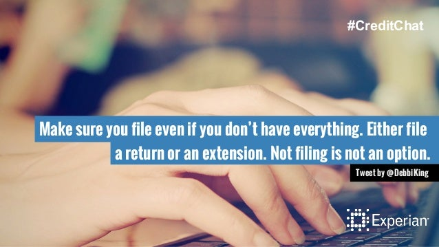 Make sure you file even if you don't have everything. Either file a return or an extension. Not filing is not an option. T...
