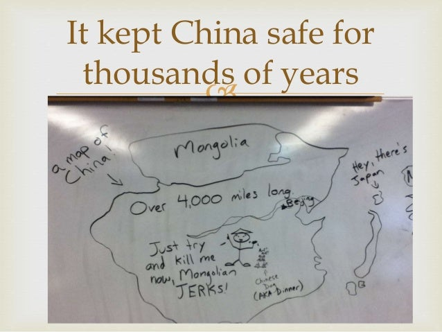 wall of china presentation notes This wikihow will give you lots of pointers on how to do a presentation in class with minimal  about your presentation  looking at the back wall.