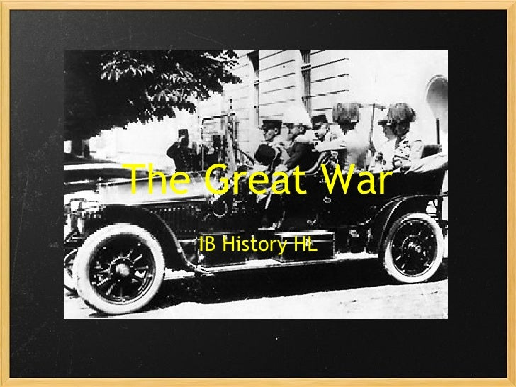 The Great War IB History HL