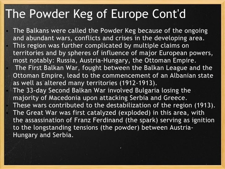 What Is Balkan Powder Keg?