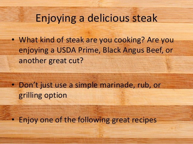 how to prepare a great steak