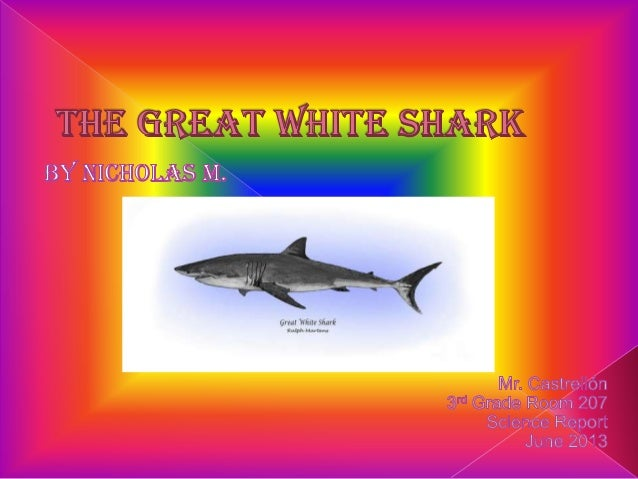 The great white sharks live in thedeep parts of the ocean .