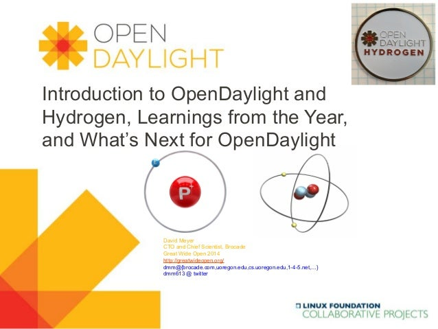 www.opendaylight.org Introduction to OpenDaylight and Hydrogen, Learnings from the Year, and What's Next for OpenDaylight ...