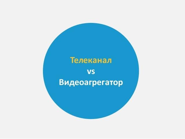 Телеканал vs Видеоагрегатор