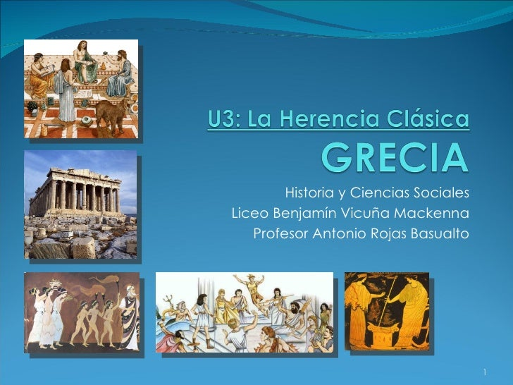 Historia y Ciencias Sociales Liceo Benjamín Vicuña Mackenna Profesor Antonio Rojas Basualto