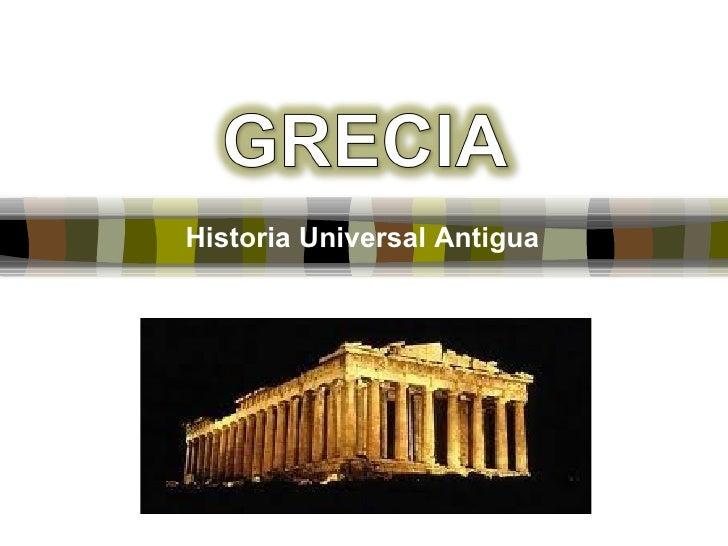 Historia Universal Antigua
