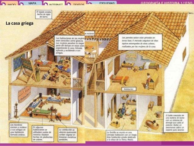 Temas 12 y 13 grecia Casas griegas antiguas