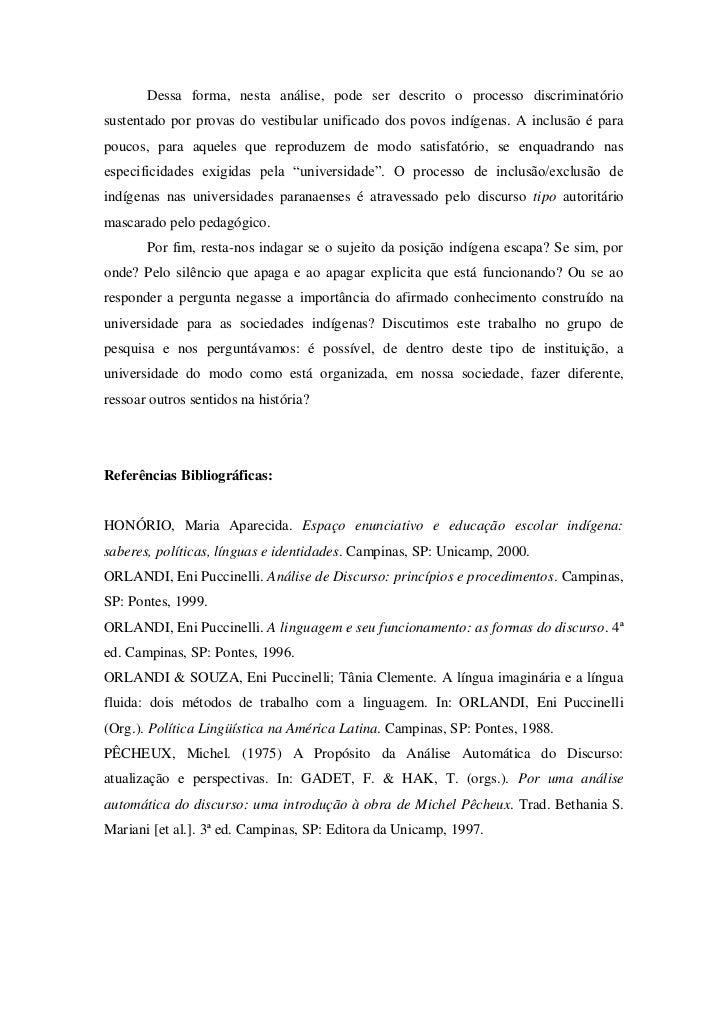 Dessa forma, nesta análise, pode ser descrito o processo discriminatóriosustentado por provas do vestibular unificado dos ...