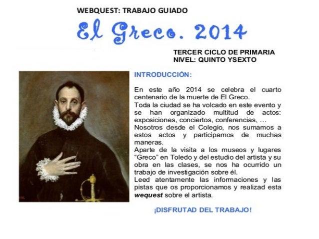 Webquest sobre EL GRECO