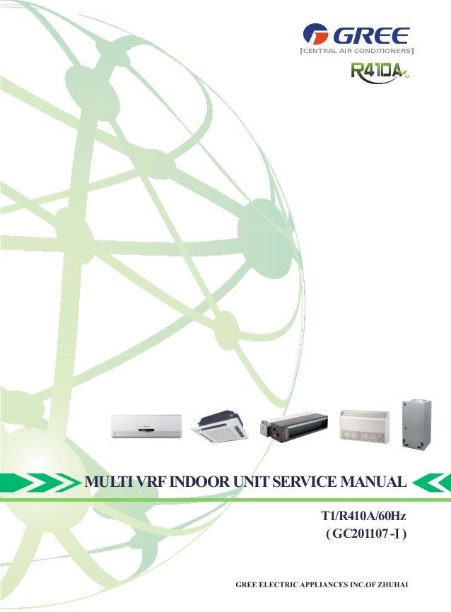 MULTIVRFINDOOR UNITSERVICEMANUAL T1/R410A/60Hz (GC201107- ) CENTRAL AIR CONDITIONERS