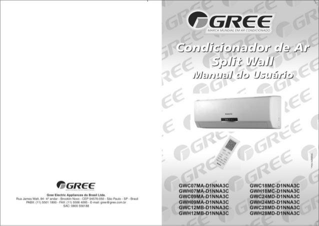 Gree   split garden - manual do usuário