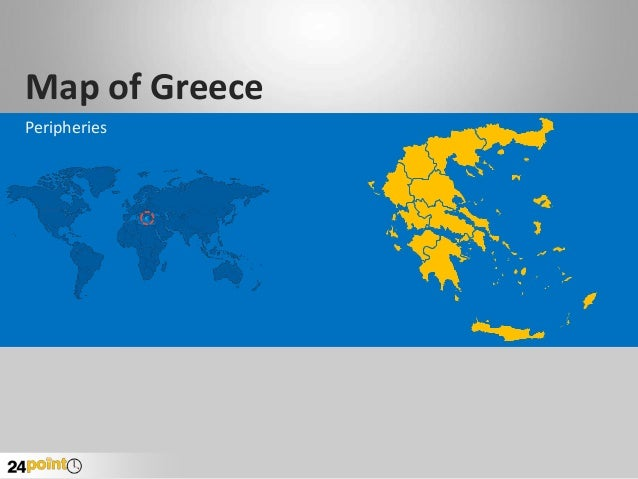 Map of Greece Peripheries