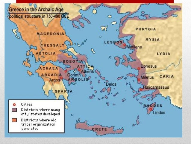 Ancient Greece Map With Cities.Greece