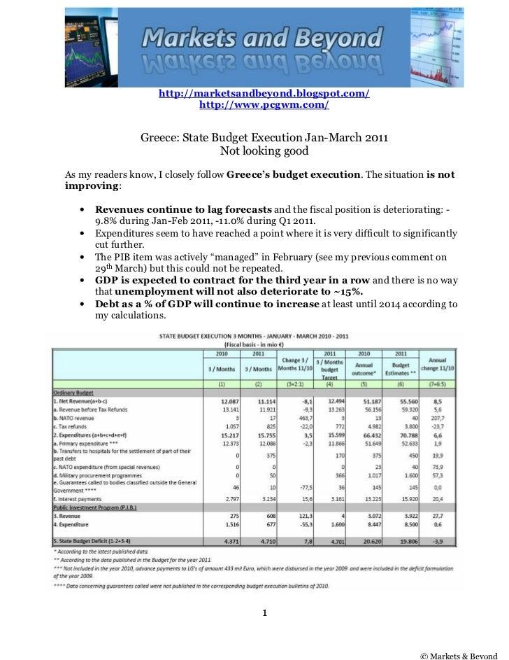 http://marketsandbeyond.blogspot.com/                              http://www.pcgwm.com/                 Greece: State Bud...