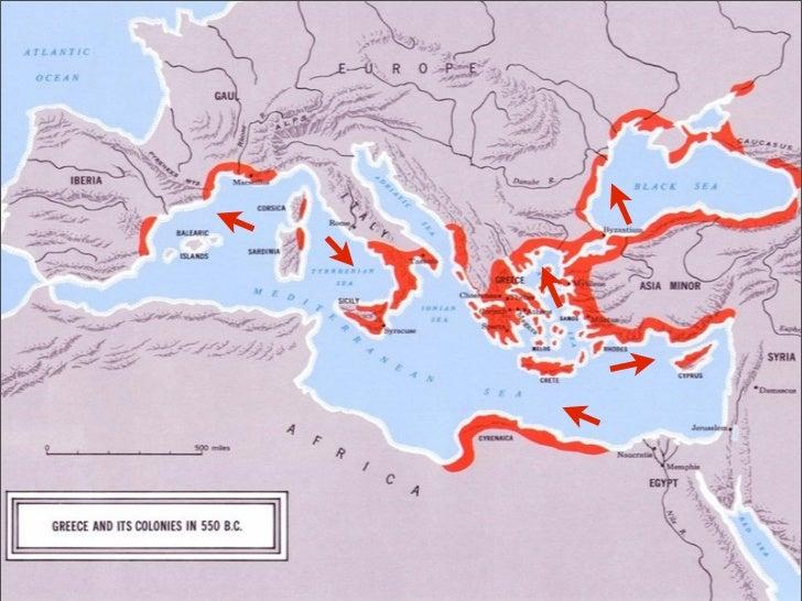 Greece Colonization And Tyranny - Greek colonization archaic period map
