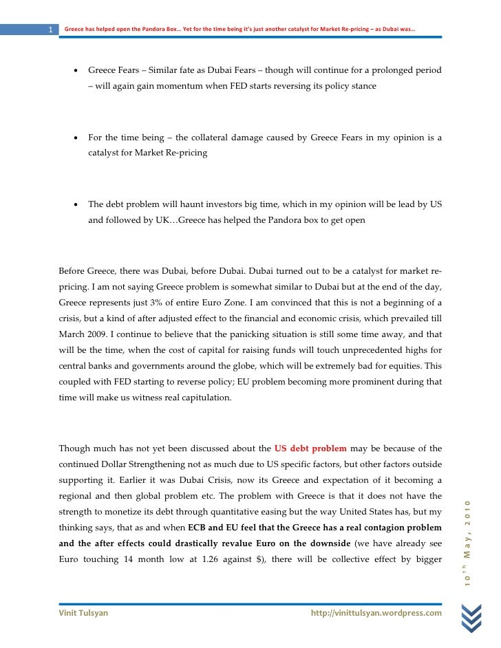 1        GreecehashelpedopenthePandoraBox…Yetforthetimebeingit'sjustanothercatalystfor MarketRe‐pricing...