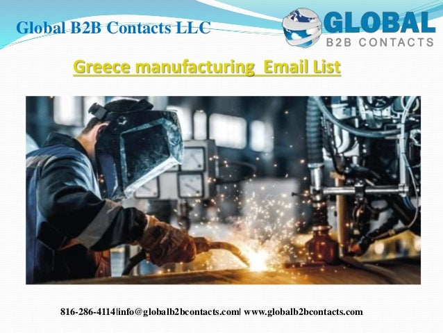 Greece manufacturing email list