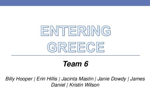 Team 6Billy Hooper | Erin Hillis | Jacinta Mastin | Janie Dowdy | JamesDaniel | Kristin Wilson