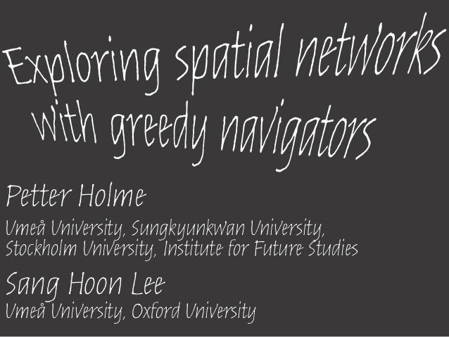Petter HolmeUmeå University, Sungkyunkwan University,Stockholm University, Institute for Future StudiesSang Hoon LeeUmeå U...