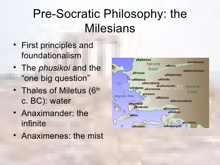 pre socratic philosophers Presocratic fragments and testimonials  this text file is adapted from passages  in john burnet's early greek philosophy (1892) this is a working draft please.