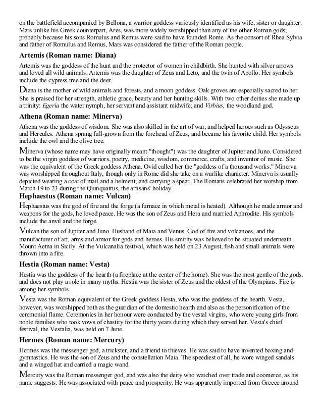 Greek and Roman-gods-goddesses