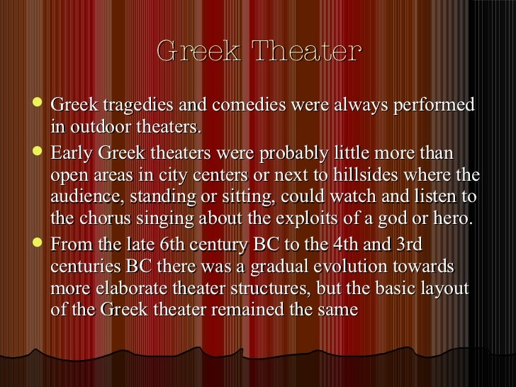ancient greek theatre essay Compare and contrast greek and roman theatre what are the similarites and what are the differences also what are the connections between them also go into detail about the similarites and differencesplease just give me some i will repay you with a best answer within and hour, if there is one even if you didn't get exactly what.
