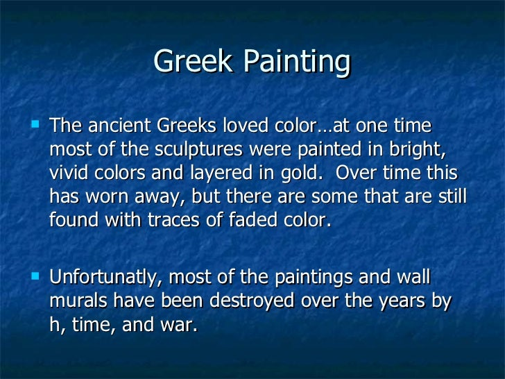 ancient greek art summary During the archaic period, greek art became less  archaic period, in history  and archaeology, the earliest phases of a culture the term is most frequently  used.