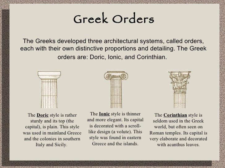 art 101 roman and greek architecture Start studying art 101- chp 14-classical art: greece and rome elements of greek art and architecture humanism roman architecture during early empire.