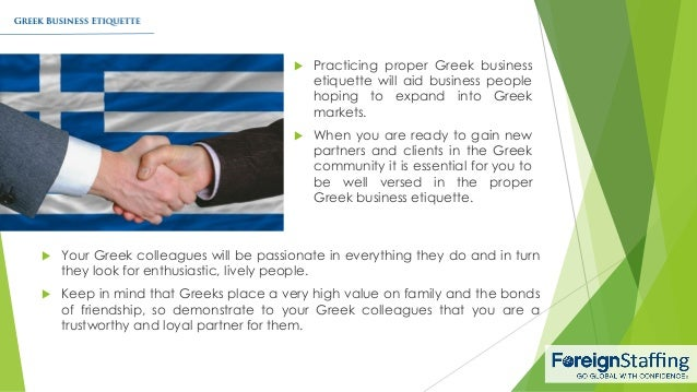 Greek business etiquette greek business etiquette 1 foreign staffing inc 2 reheart Image collections