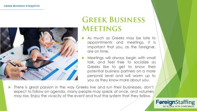 Greek business etiquette 4 reheart Image collections