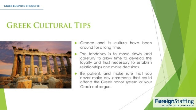 Greek business etiquette 7 greece reheart Image collections