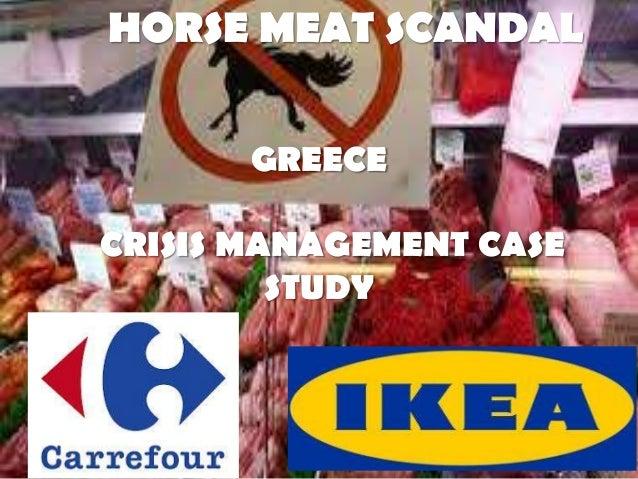 HORSE MEAT SCANDALGREECECRISIS MANAGEMENT CASESTUDY