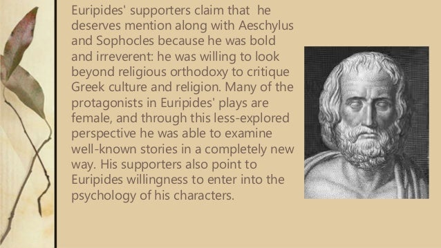 Essay on Sophocles vs Euripides