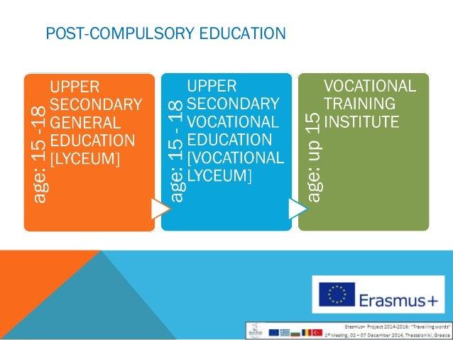 Travelling words - Presentation od the Greek educational system