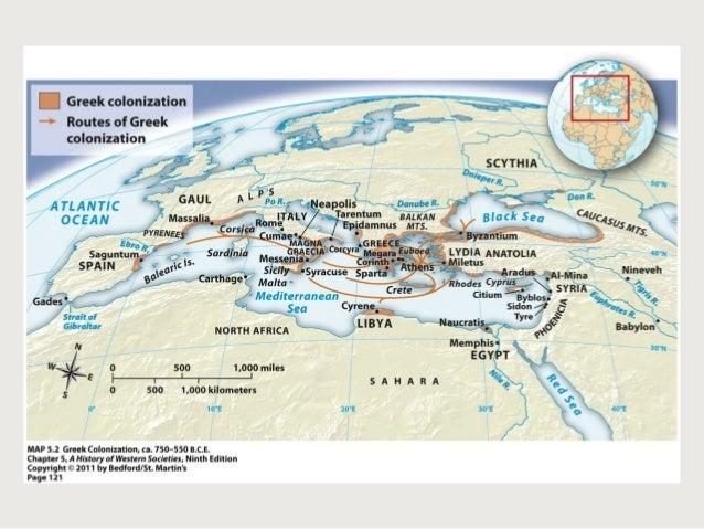 Greek Experience Mc Kaych - Greek colonization archaic period map