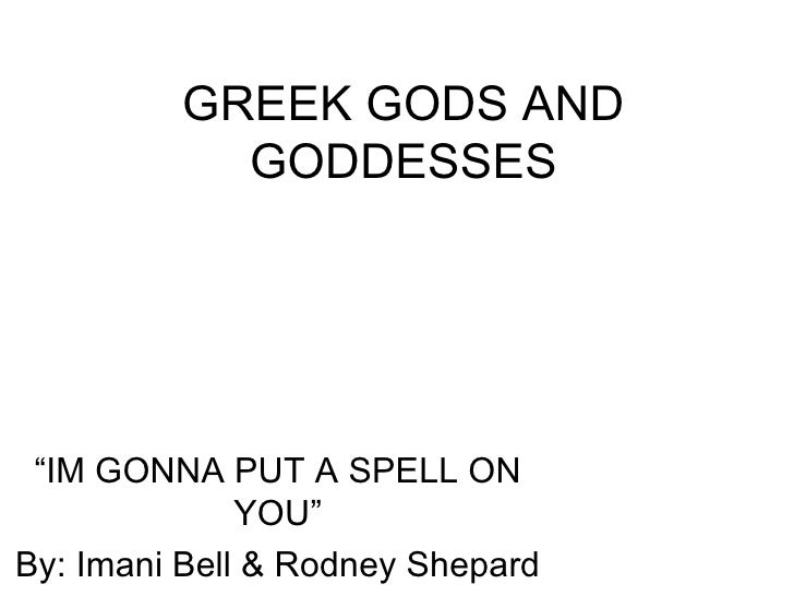 Greek Gods And Goddesses By Imani