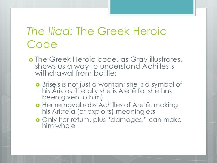Heroic Code in the Iliad and the Odyssey