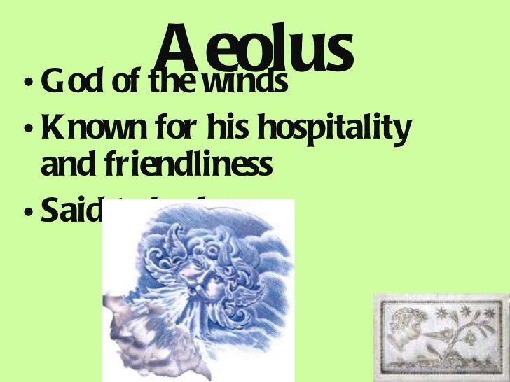Aeolus The God Of The Winds In Greek Mythology He Was
