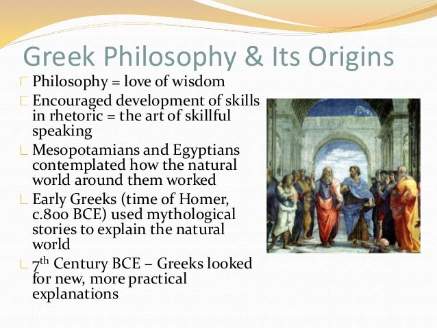 Greek philosophy and culture