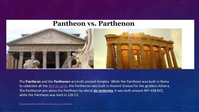 parthenon and pantheon